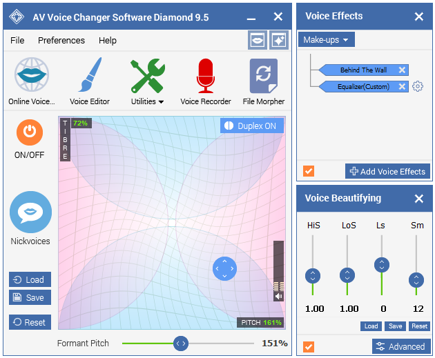 Screenshot of AV Voice Changer Software Diamond 9.5.11