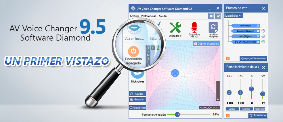 AV Voice Changer Software Diamond 9.5 - A first look