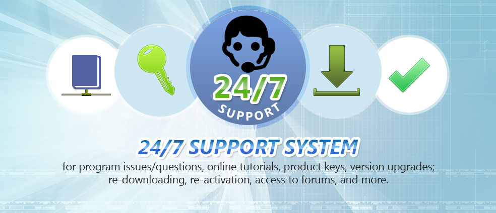 24/7 support system to immediately solve all Voice Changer Software 8.0 issues such as tutorials, keys, download problems, etc
