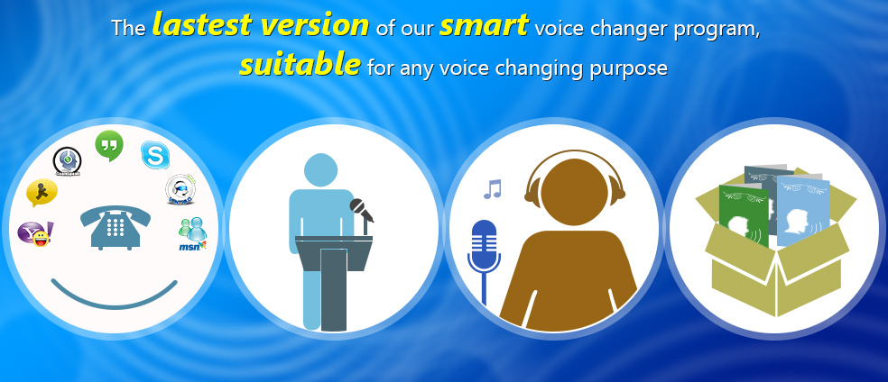 AV Voice Changer Diamond can be used for all creative and professional voice changing tasks