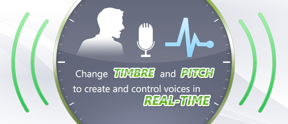 Voice Changer Software 8.0 alters and controls voice's timbre and pitch in real-time