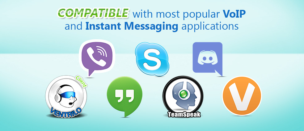 Voice Changer Software 8.0 is compatible with many Instant Messenger and VoIP clients