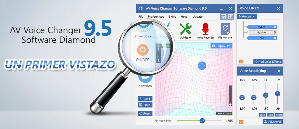 AV Voice Changer Software Diamond 9.5 - Un primer vistazo